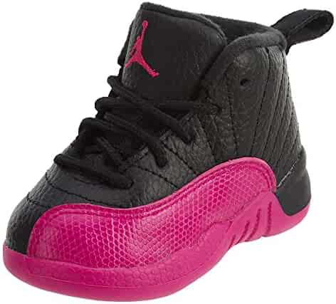 565856d572e5 NIKE Jordan 12 Retro GT Toddlers Basketball Shoes Black Deadly Pink  819666-026