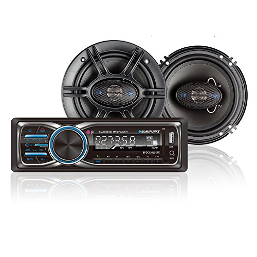 Blaupunkt Columbus 100 Stereo Receiver and GTX650 6.5-Inch 360W Coaxial Speaker Bundle 360 Surround Bundle