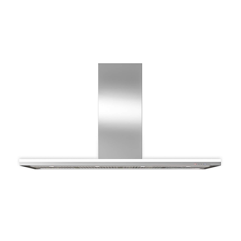 Futuro Futuro Streamline 48 Inch Island-mount Kitchen Range Hood - Slim Contemporary Modern Italian Design - Ultra-Quiet with Blower