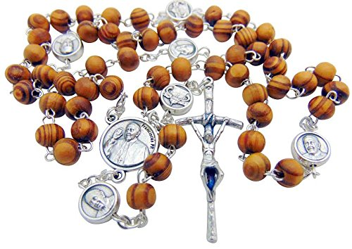- Pope Francis Olive Wood Vatican Papal Rosary Boxed from Italy