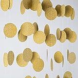 MOWO Glitter Paper Garland Cir