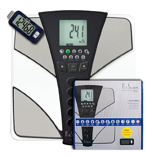 (Tanita BC-585P FitScan Body Composition Monitor, Pedometer Bundle)