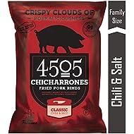 4505 Classic Chili & Salt Pork Rinds, Certified Keto, Humanely Raised, Family Size Bag, 7oz