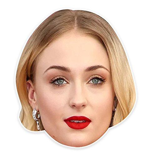 Unwelcome Greetings Neutral Sophia Turner Mask, Perfect for Halloween, Masquerades, Parties, Festivals, Concerts - Jumbo Size (Sophie The First Costume)