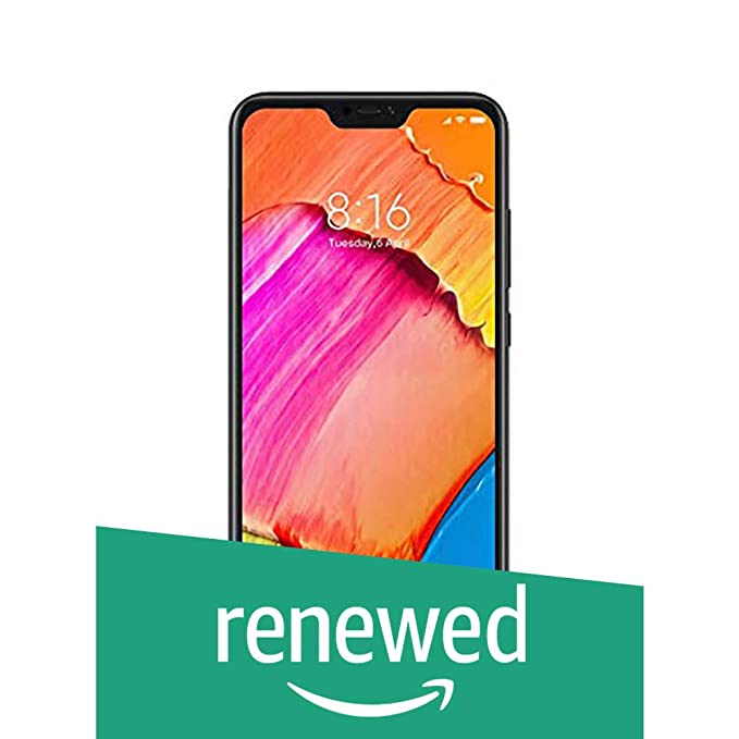 Renewed  Redmi 6 Pro  Black, 4 GB RAM, 64 GB Storage  Smartphones
