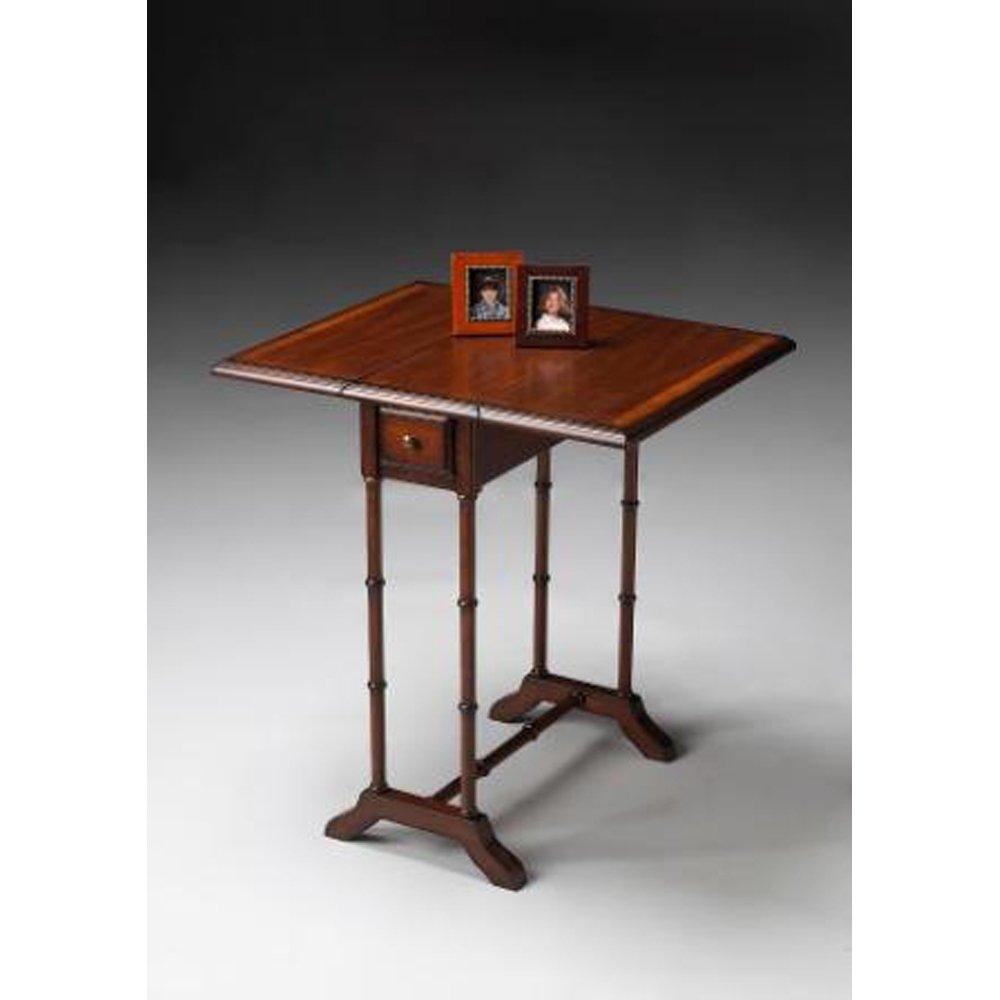 Amazon.com: Drop Leaf Table W Single Drawer And Umber Finish: Kitchen U0026  Dining