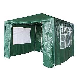 Jardín GAZEB 3x 3m Carpa polietileno Pop Up tienda impermeable al aire libre de fiesta del pabellón , verde