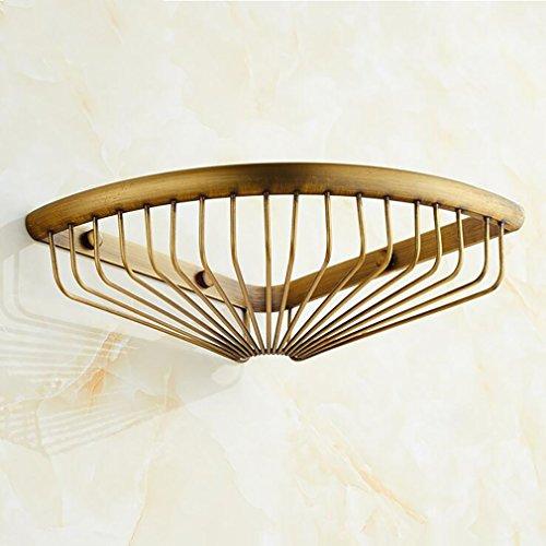FeN Storage Shelf,Antique Brass Storage Basket,Single Layer Triangular Rack,Kitchen Torage Organizer Shelves,Bathroom Holder by FeN