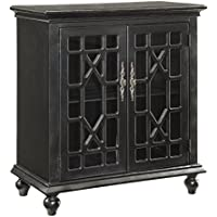 Edwardsville Textured Black Two Door Cabinet