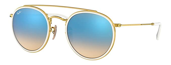 97d7abda6 Image Unavailable. Image not available for. Color: Ray-Ban RB3647N Round  Double Bridge Unisex Sunglasses 001/4O ...