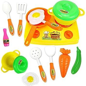 Amazon.com: 13Pcs/Set Play Kitchen Toys Cocina Juguete Classic Fruit ...