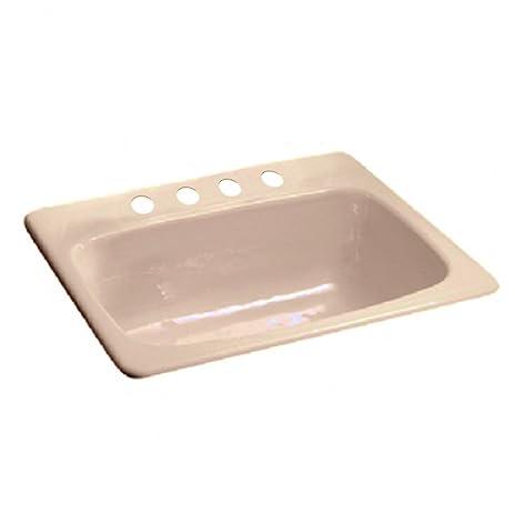 American Standard 7072.804.345 Cast Iron Single Bowl Kitchen Sink, Bisque
