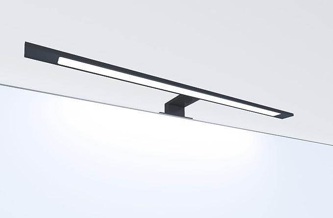 Lampada da bagno a led colore nero montaggio a specchio o in