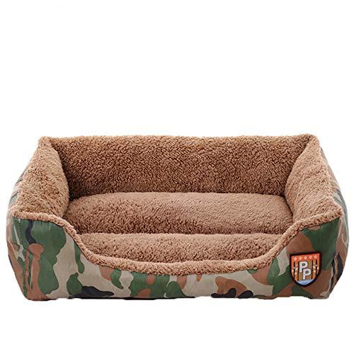(YJYdada Pet Dog Cat Bed Puppy Cushion House Soft Warm Kennel Dog Mat Blanket (L))
