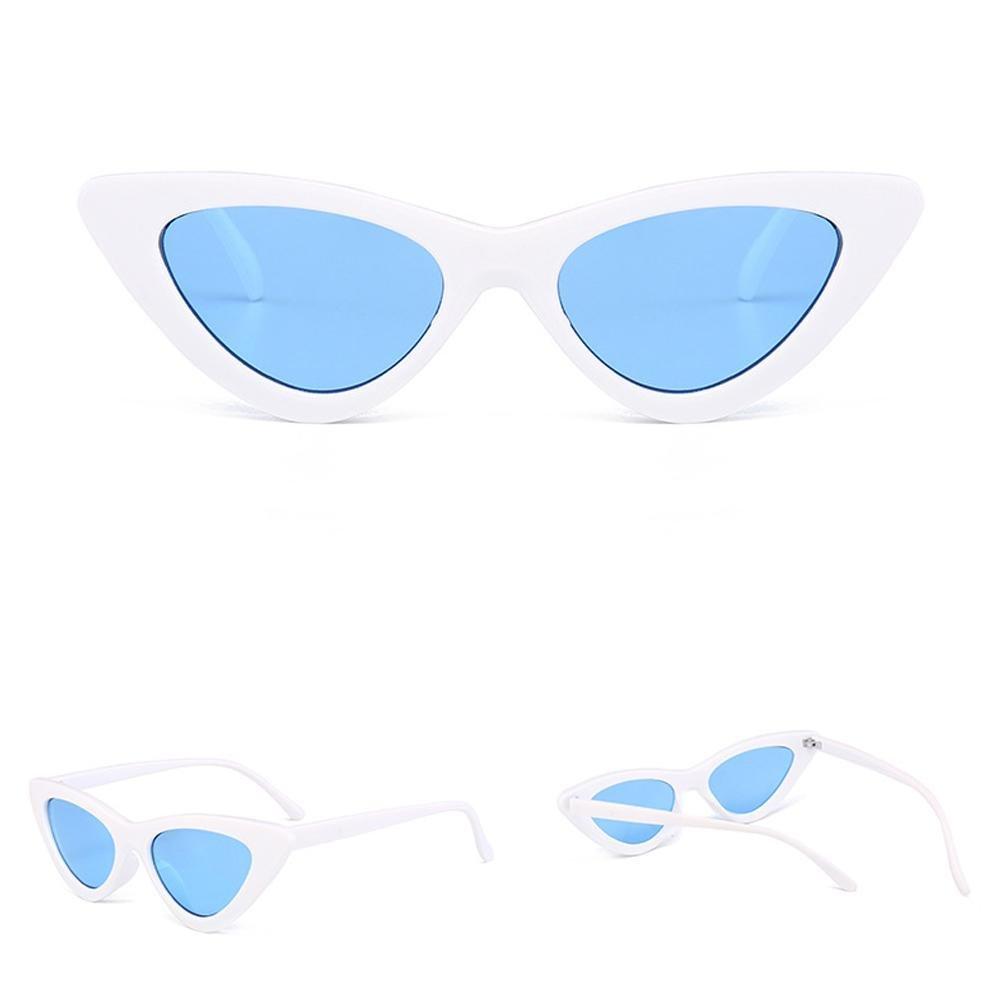 dcdc2b0289 AOLVO Gafas de Sol Retro Cat Eye Gafas de Sol Vintage Cat Eye Gafas de Sol  Premium Ligeras HD Lentes UV ...
