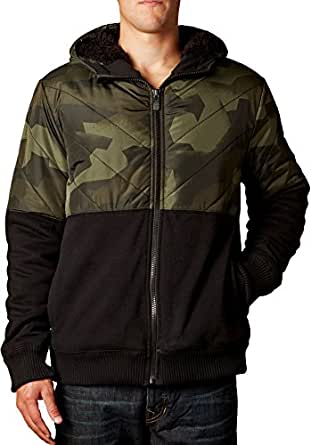 Fox Racing Mens Crockett Sasquatch Fleece Hoody Zip Sweatshirt At Amazon Men S Clothing Store