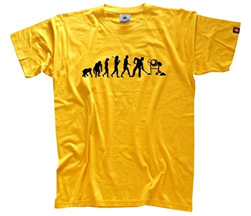 Shirtzshop–Maglietta da uomo operaio II camion betoniera cantiere Evolution, giallo, S, SS Shop–Evo _ bauarb2per T
