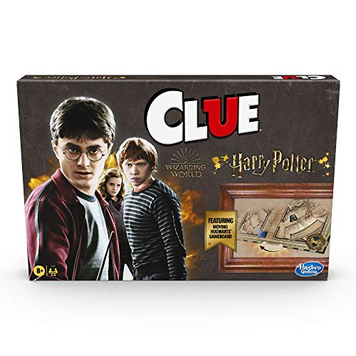 Hasbro Gaming Clue: Wizarding World Harry Potter Edition Mystery Board Game for 3-5 Players, Kids Ages 8 and Up (Amazon…