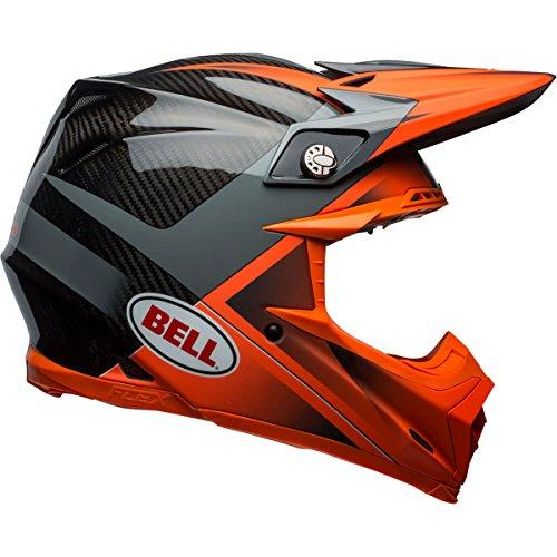 Bell Moto-9 Flex Hound Off-Road Motorcycle Helmet (Gloss/Matte Orange/Charcoal, Medium) (Velocity Off Road Helmet)