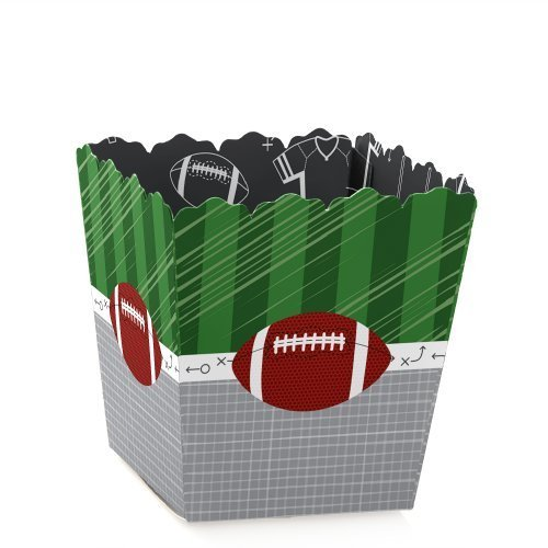 End Zone - Football - Party Mini Favor Boxes - Baby Shower or Birthday Party Treat Candy Boxes - Set of 12 -