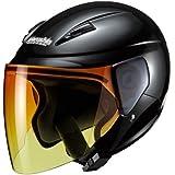 マルシン(MARUSHIN) バイクヘルメット セミジェット M-520XL 【アンバーグラデシールド】 ブラックメタリック XLサイズ(61-62cm未満) M-520XL
