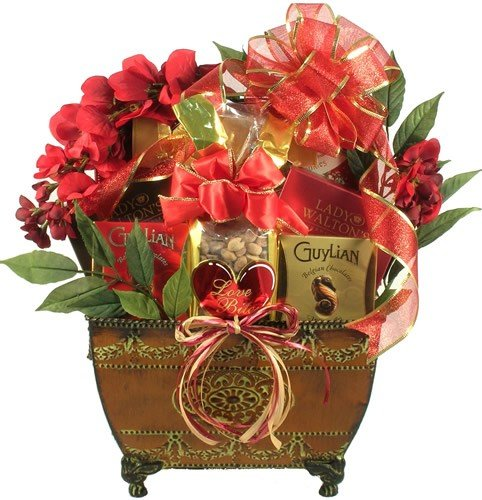 Grande Valentine -Gourmet Gift Basket of Chocolates, Cookies, and Truffles