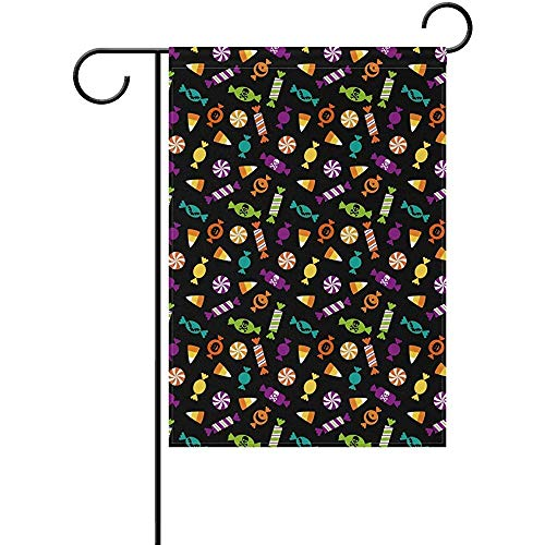 Fashbag Premium Garden Flag Welcome, Halloween Candy Decorative Polyester Garden Flag 12 x 18 -