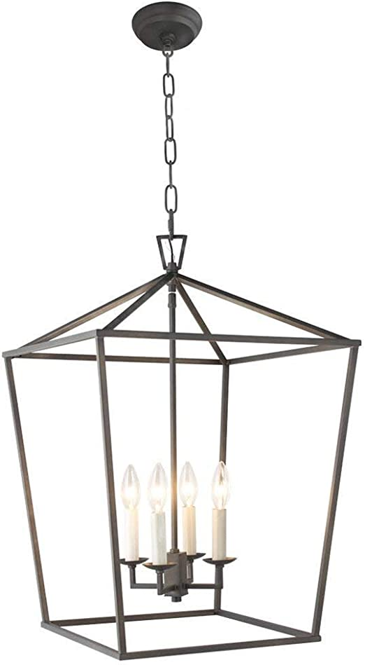 Luminous 6 Light Rustic Ebony Chandelier
