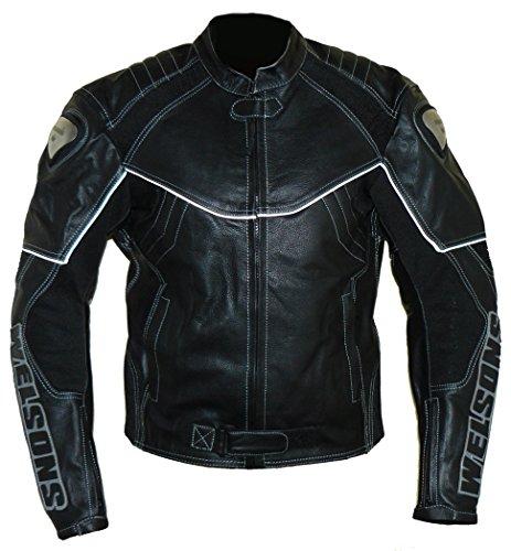 protectWEAR Motorrad Lederjacke