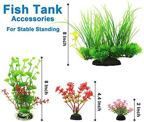 Plantas artificiales para decoraciones para acuarios 4