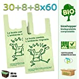 Bolsas biodegradables con asas, compostables, tamaño mini ...