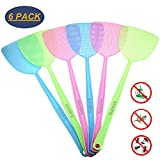 6 Pack Fly Swatter Manual Swat Pest Control Plastic