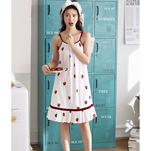 南極我慢する甘いGAODUZI サマーレディース半袖パジャマセクシーなスリング下着コットンスリープスカート細い女性の夏のコットンの服のドレス