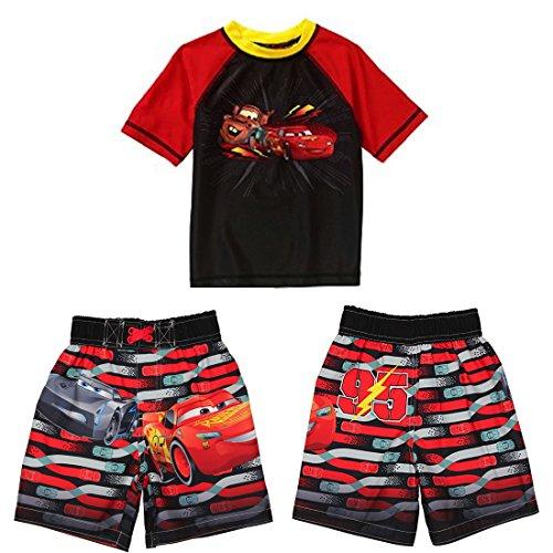 disney-cars-3-lightning-mcqueen-boys-swim-trunks-and-coordinating-rashguard-set-sizes-3t-4t-4t