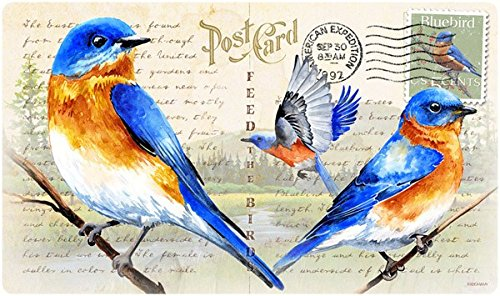 Bluebird Postcard Cutting Board