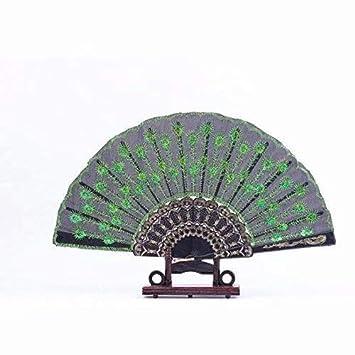 Doyime /éventail Pliant Atmosph/ère /él/égante Main Pliant Ventilateur Hommes Femmes DIY Jouet D/écoration /à Suspendre Cr/éatifs