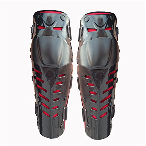 Motocross Knee Guard Motorcycle Body Armor Drop Hip BMX MTB Knee Knee/Shin Pads Black and Red