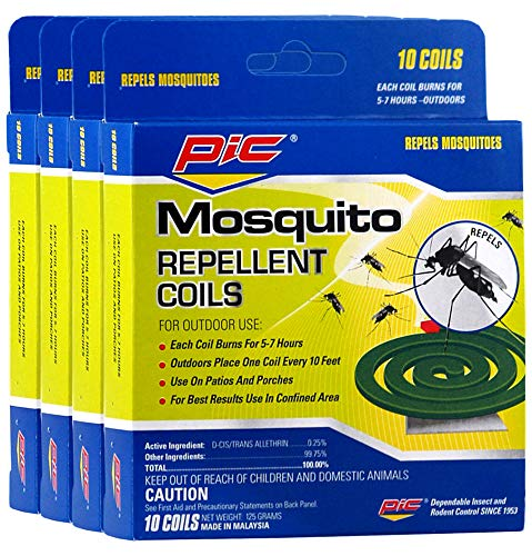PIC Mosquito Repellent Coils 10 Each (Pack of 4) (Pic Mosquito Repellent Coils)