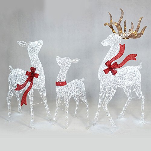 Outdoor Lighted Deer Family - 3