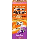 Childrens Motrin Grape Ibuprofen Pain Reliever Fever Reducer Oral Suspension 4 fl. oz. Box - 36 per case.