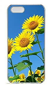 iPhone 5 5S Case Beautiful Sunflower 1 Funny Lovely Best Cool Customize iPhone 5S Cover Transparent
