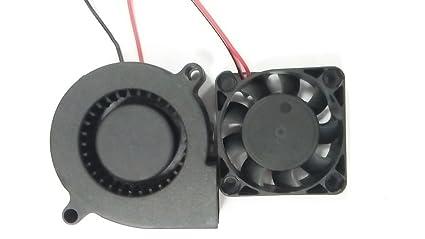 Extrusora impresora 3D HICTOP Turbo ventilador de refrigeración del ventilador 24V DC 0,9 M de cableado de 50mm x 15mm N4010 Partes de la impresora 3D ...