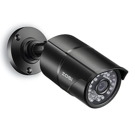 ZOSI Cámara de Vigilancia 1000TVL Cámara de Seguridad Exterior , 36 Led IR, 30m Visión