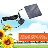 Solar Fountain Pump, Solar Power Fountain for Garden Sun Plants Watering Outdoor