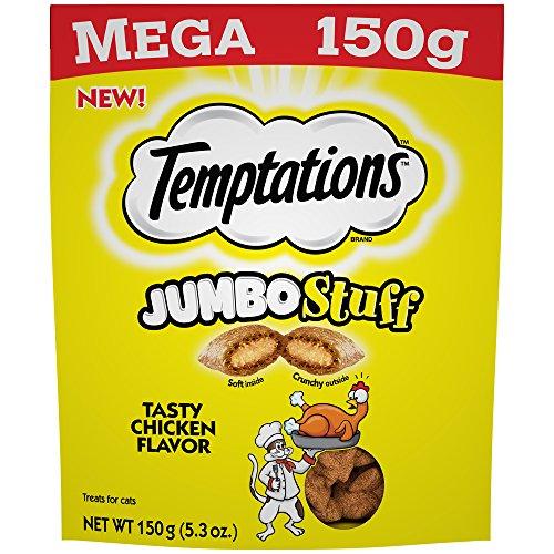 Temptations Jumbo Stuff Cat Treats Tasty Chicken Flavor, (10) 5.3 Oz. Pouches