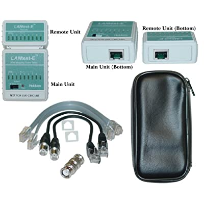 SkuBros LANtest-E Wire Mapping Cable Tester, Tests Cat5e, Cat6, Cat6a, Coaxial (BNC) and Telephone runs - Tone Generator Wire Tracker Lan Remote Cableiq Cabling Faults Detector