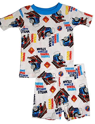 AME Thomas and Friends - Little Boys Short Sleeve Shorty Pajamas, White 34091-2T