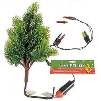 Auto Weihnachtsbaum.12 Volt Weihnachtsbaum Mit 5 Lampen Amazon De Auto