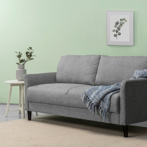 Zinus Jackie Classic Upholstered 71 Inch Sofa / Living Room Couch, Soft Grey (Sectional Sofa With Bed $500)
