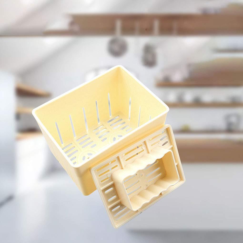 Tofu prensado Molde del Fabricante de moldes de plástico Bricolaje casero cuajada de Soja con Queso paño de Cocina Herramienta de Cocina: Amazon.es: Hogar